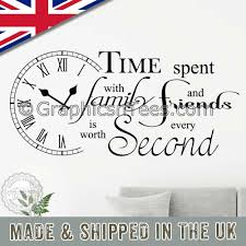 Time Spent With Family And Friends Is Worth Every Second Inspirational Wall Sticker Quote Home Vinyl Wall Art Decor Decal