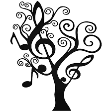 Music Symbols Tree Vinyl Decal Sticker