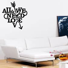 all we need is love wall art sticker
