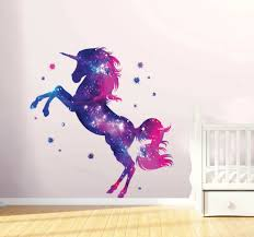 Stars Unicorn Wall Stickers Fantasy Girls Bedroom Wall Art Home Decal 35 L For Sale Online