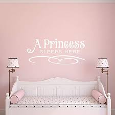 Amazon Com A Princess Sleeps Here Wall Decal Wall Sticker Handmade