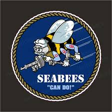 Us Navy Seabees Cb Construction Battalion Military Bumper Sticker Window Decal