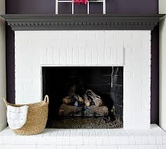 white brick fireplaces