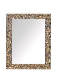 gold luxe mosaic glass mirror