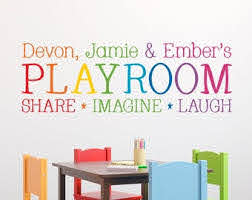 Playroom Wall Decals Etsy