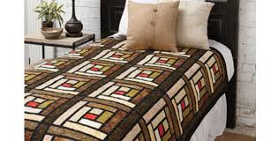 stained glass log cabin blocks make a