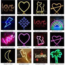 Đèn Neon Hồng Lãng Mạn Chữ LOVE Đèn LED Chiếu Sáng Pannel Sạc USB Trang Trí  Nhà Phòng Đèn Cưới Tiệc Lễ Hội Neon Đèn|