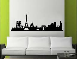 Paris Skyline Wall Sticker Paris City Wall Decal Paris Silhouette Sticker Ebay