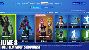 Fortnite Item Shop - June 8 2020 (Fortnite Battle Royale) - YouTube