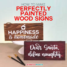 How To Use Vinyl Stencils To Paint Wood Signs Perfectly Jennifer Maker
