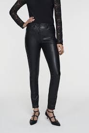 faux leather skinny trouser jean