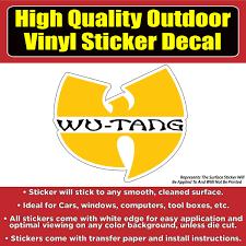 Wu Tang Vinyl Car Window Laptop Sticker Decal Colorado Sticker