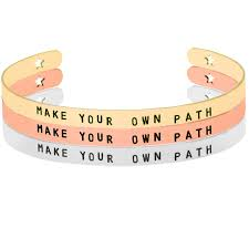 make your own path positive inspirational quotes mantra bracelet