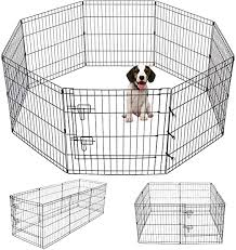 Amazon Com Pet Playpen Puppy Playpen Kennels Dog Fence Exercise Pen Gate Fence Foldable Dog Crate 8 Panels 24 Inch Kennels Pen Playpen Options Ideal For Pet Animals Outdoor Indoor 24 Inch Pet Supplies