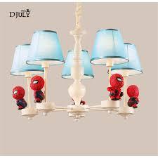 Children Bedroom Spider Man Chandelier Creative Cartoon Indoor Lighting Fixtures Home Deco Hanging Light Kids Study Nursery Lamp Chandeliers Aliexpress