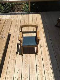 child rocking chair with blue seat