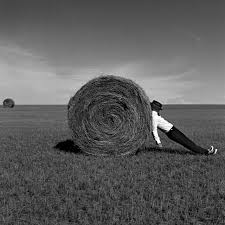 Rodney Smith | Man Leaning Against Hay Bale, Alberta, Canada (2004 ...