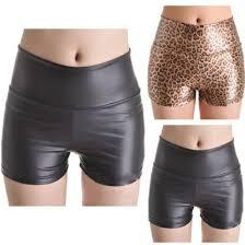shorts black leather shorts leopard