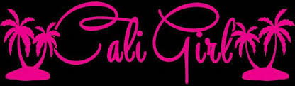 Cali Girl Vinyl Decal Sticker With Palm Trees Lilbitolove