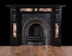 black slate victorian fireplace