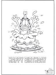 Gefeliciteerd Garfield Kleurplaten Verjaardag