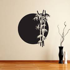 Bamboo Rising Sun Japanese Chinese Wall Sticker Decal World Of Wall Stickers