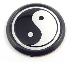 Yin Yang Black Round Flag Car Decal Emblem Bumper 3d Sticker Badge 1 85 Ebay