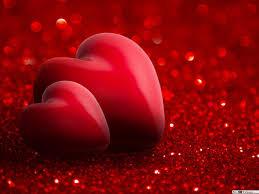 عيد الحب قلوب حمراء رومانسية تنزيل خلفية Hd