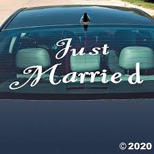 Just Married Window Clings Discontinued