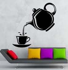 Tea Sticker Coffee Decal Muurstickers Poster Vinyl Art Wall Decals Pegatina Quadro Parede Decor Mural Tea Sticker Tea Stickers Coffee Decalsticker Coffee Aliexpress