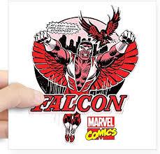 Amazon Com Cafepress Marvel Falcon Square Sticker 3 X 3 Square Bumper Sticker Car Decal 3 X3 Small Or 5 X5 Large Home Kitchen