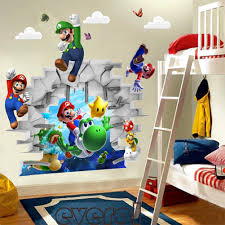Kids Games Super Mario Pvc Wall Stickers Bros 3d View Stickers Decals Mural Home Decor Wall Stickers Art Wall Decals Art Wall Sticker From Wangxiaofeng806 4 95 Dhgate Com