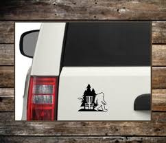 Disc Golf Sasquatch Decal 12 Colors Laptop Decals Car Etsy
