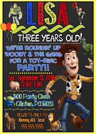 Woody Toy Story Birthday Party Invitations Fiesta De Toy Story