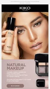 natural and radiant makeup kiko