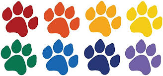 Amazon Com 8 Dog Paw Prints Sticker Rainbow Colors Dogs Puppy Pooch Lover Cat Paw Prints Automotive