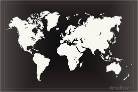 World Maps Decals Stickers Decalboy