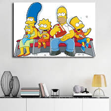 The Simpsons Watching A Movie Home Wall Art Canvas Posters Decor 10 Sizes The Simpsons Family