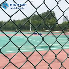 China Diamond Green Pvc Coated Chain Link Fence For Playground China Chain Link Fence Chain Link Wire Mesh