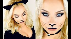 halloween kitty cat makeup tutorial