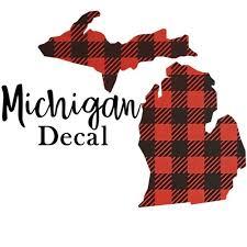 Michigan Custom Decal Mi Car Decal Create Your Own Vinyl Etsy