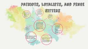 Patriots Loyalists And Fence Sitters By Taylor Machen