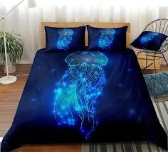 ocean jellyfish duvet cover set ocean