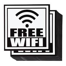 Wifi Stickers 24 Pack Free Wifi Sign Vinyl Decals For Wifi Hotspot Business Coffee Shops Restaurants Self Adhesive Black And White 5 X5 Inches Walmart Com Walmart Com