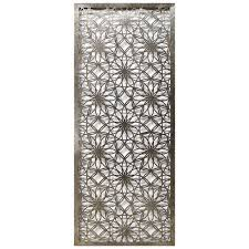 Floral Laser Cut Metal Wall Art Panel 20 X 48 At Home