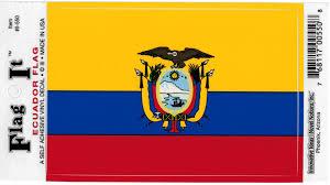 Ecuador Flag Car Decal Sticker The Cultural Exchange Shop Apparel Gifts