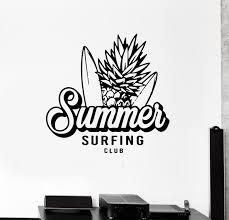 Wall Decal Summer Surfing Beach Sport Extreme Ocean Vinyl Sticker Ed1 Wallstickers4you