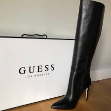 guess shoes leather sti boot nwt
