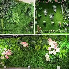 40x60cm Fake Artificial Plant Grass Wall Panel Hedge Vertical Garden Mat Foliage Flower Shopee Philippines