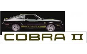 1975 77 Cobra Ii Spoiler Decal Classic Auto Reproductions